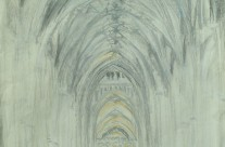 Canterbury cathedral nave – pastel