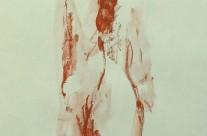 Nude back – red conté